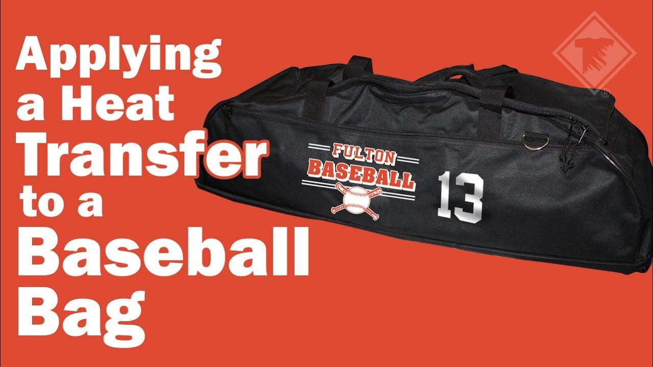 Applying A Heat Transfer To A Baseball Bag Youtube