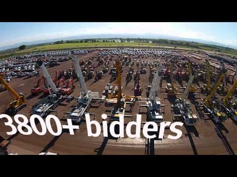 Drone Video Of $40M Equipment And Truck Auction - Denver CO - Ritchie Bros.