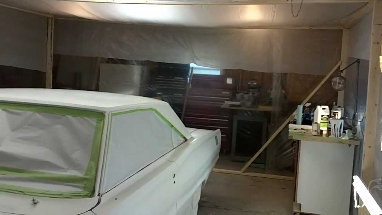 How to build a paint booth for your car. - YouTube