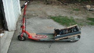 razor e100 fast electric motor scooter modification 17mph