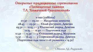 Открытые соревнования «Посвященные памяти Т.А.Толмачевой-Гранаткиной»