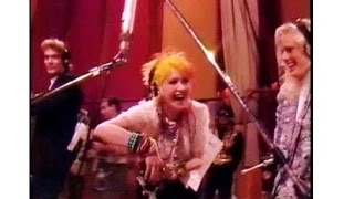 Funny 80's Cyndi Lauper moment, rehearsing We are the World  (rare)