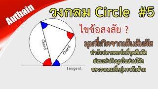 มุมที่เกิดจากเส้นสัมผัสกับคอร์ดของวงกลม