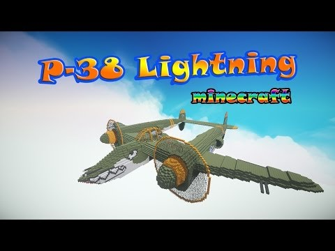 Minecraft: P-38 Lightning | Caza / fighter aircraft | + Descarga / Download