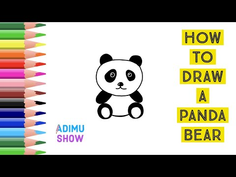 How To Draw A Panda Bear Easy Drawing