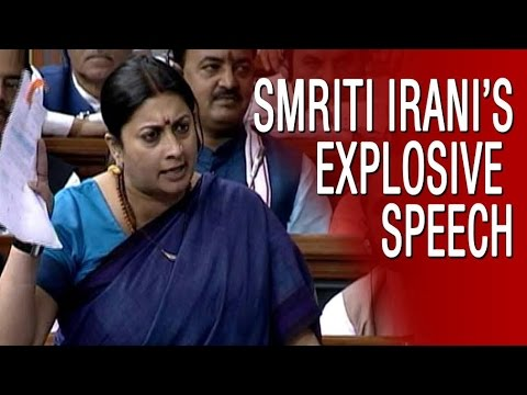 Smriti Irani's Full Explosive Speech In Parliament