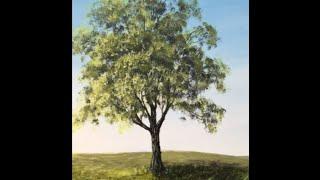 Дерево акрилом - Как рисовать Лиственное дерево акрилом. The Summer Tree in Acrylic