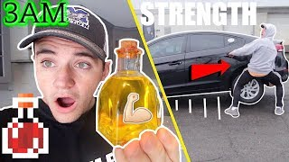 (Insane) Ordering SUPER STRENGTH Potion from the DARK WEB at 3AM ! (I Lifted a CAR in the Air!!)