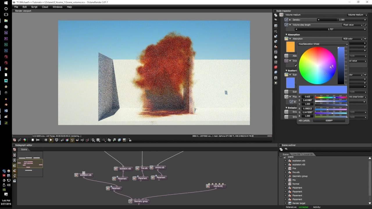 Cinema 4d texture based dirt faloff in octane render tutorial.