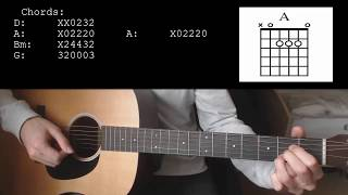 Mike Posner - Move On EASY Guitar Tutorial With Chords / Lyrics Video