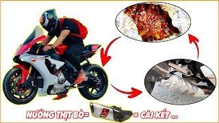 Đệ Tứ Vlogs - Dùng Pô Akrapovic YAMAHA R1 Nướng Thịt Bò và Cái Kết...