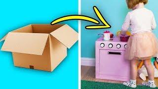 как сделать из картона кухню