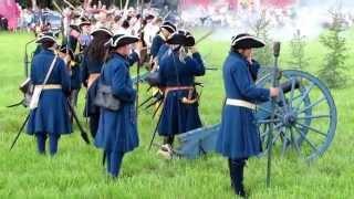 Great Northern War/Pohjan sota 300 years festivals in Isokyrö. Muskettitulitusta.
