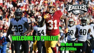 Eagles Making Moves!!! Sign RB Matt Jones To Crowded Backfield!!!