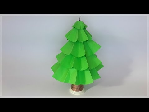Yılbaşı Ağacı Yapımı Origami çam Ağacı Christmas Tree Youtube
