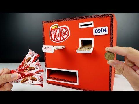 How to make cardboard Kitkat vending Machine at home - Diy crafts