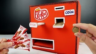 how to make cardboard Kitkat vending Machine at home - Diy crafts