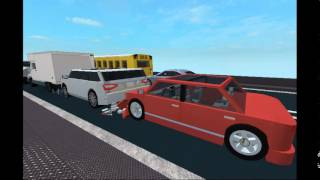 (ROBLOX) Multi Car Crash on the Bridge