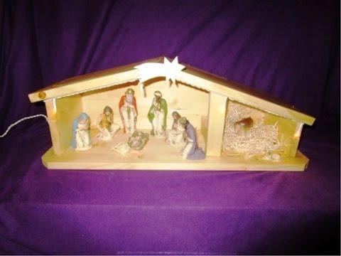 Weihnachtskrippe aus Holz bauen auf der Kreissäge