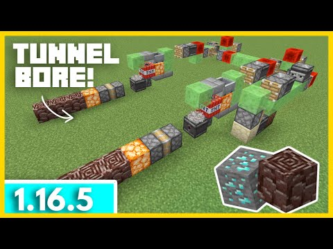 Automatic Diamond Farm Tutorial 1.16.5 | Minecraft Java Automatic Tunneling Machine Infinite Diamond