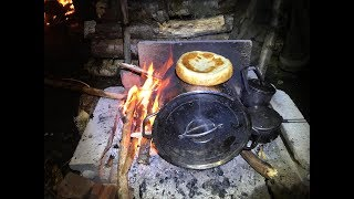 2 nights debris village camping and oven cooking