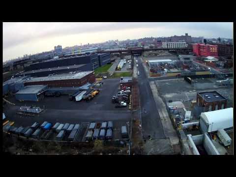 Drone flight over Port Morris South Bronx