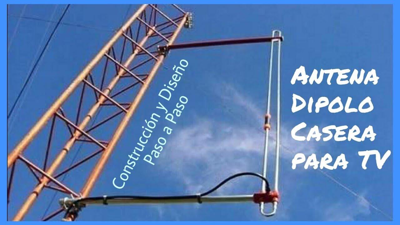C mo hacer una antena dipolo casera para ver la tv tdt hd youtube - Antena tdt interior casera ...