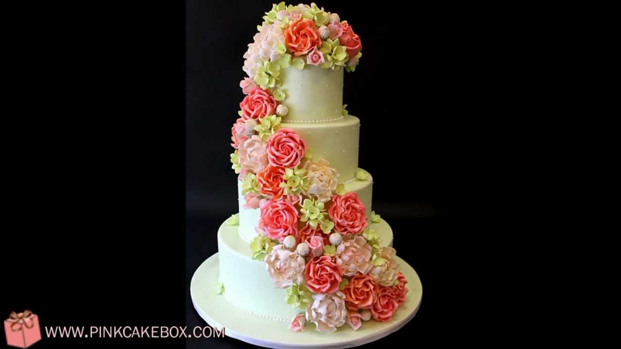 Garden Wedding Cake Youtube