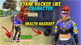 😱ஜட்டி Girl !! XYANE Hacker Like Character New Best Character Skill test Gameplay Health Hacker?😡