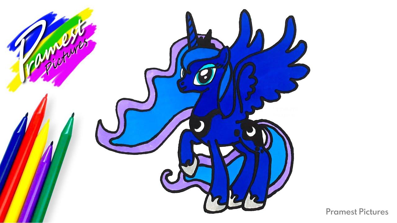 Putri Luna 2 Cara Menggambar Dan Mewarnai Gambar Kuda Poni Untuk Anak Youtube
