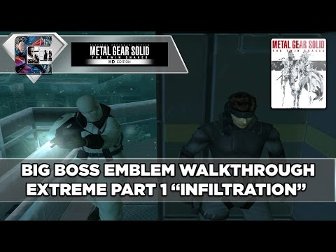 """Metal Gear Solid: The Twin Snakes / Walkthrough / Extreme / Big Boss Run Part 1 """"Infiltration"""""""