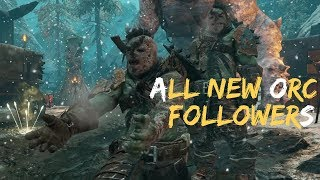 Blade Of Galadriel DLC - All NEW Unique Orc Uruk & Olog Follower Characters (Shadow Of War DLC)