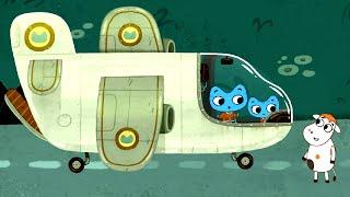 Прямо через луну - 🐱 Котики, вперед! 🐱- мультфильм для детей - про котят