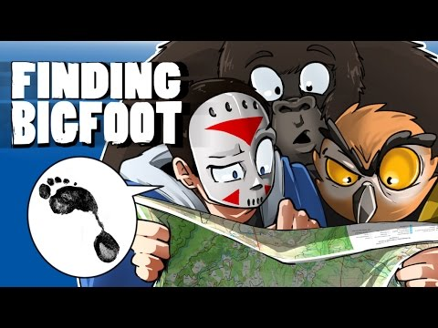 FINDING BIGFOOT - Searching through the forest! With Vanoss & Ohmwrecker!