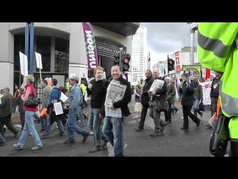 Birmingham-Trade Unions protest march against coalition today 18.9.11