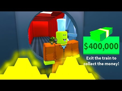 ROBBING MAX CASH FROM THE NEW TRAIN! (Roblox Jailbreak)