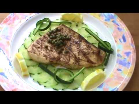 Swordfish Recipe, Capers Lemon And Cucumbers