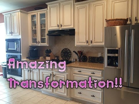 Repainting Kitchen Cabinets Hats Before And After Painting Oak White High ...