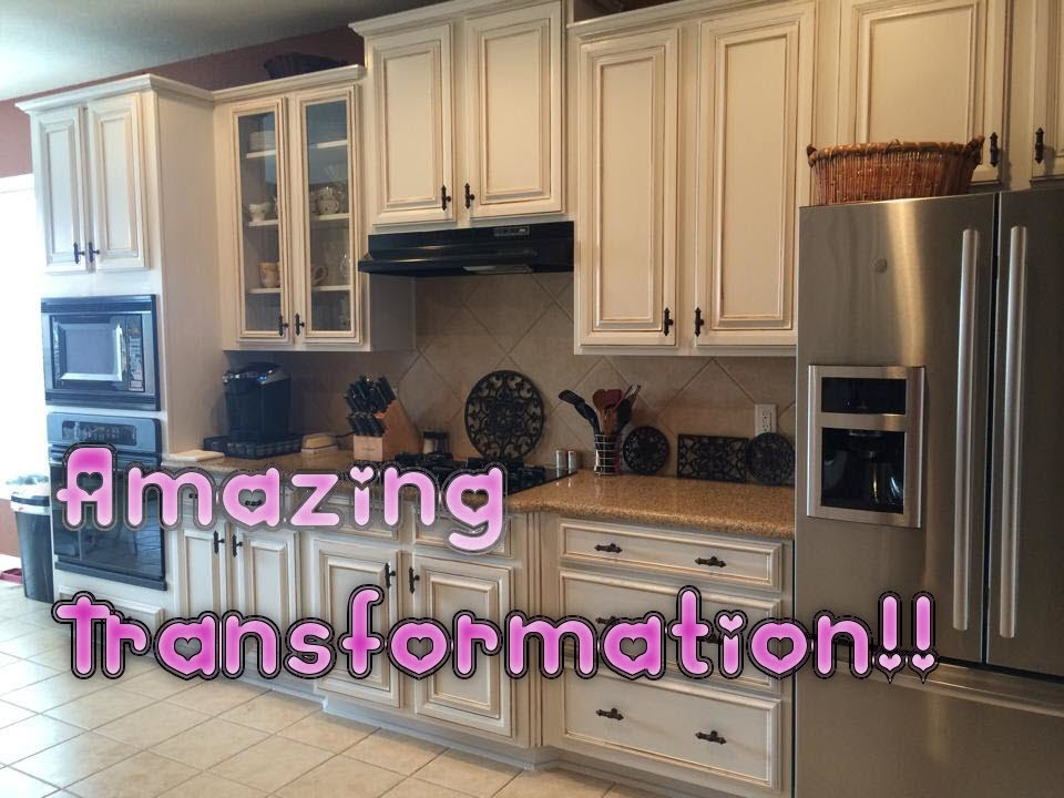Faux Glaze Finishing Kitchen Cabinets With Hvlp How To Paint Oak White You