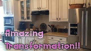 Faux Glaze Finishing Kitchen Cabinets With Hvlp Gun: How To Paint Oak Cabinets White