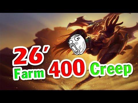 Throw.Thi Sivir MID Chỉ Với 26 Phút Farm 400 Creep (Gấp Đôi Thời Gian)