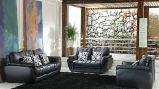Living Room With Black Leather Sofa Ideas Youtube