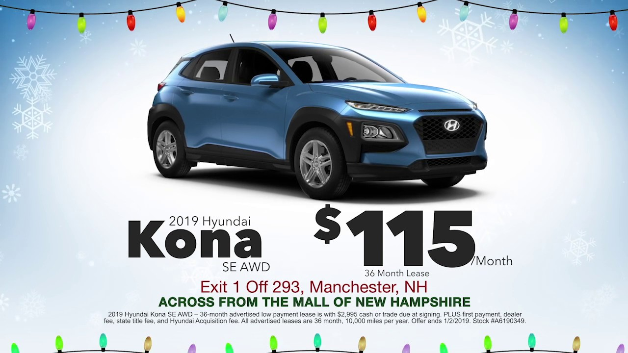 Hyundai Lease Deals >> 2019 Hyundai Kona Lease December 2018