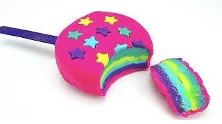 Пластилин для детей. Лепим Мороженое из пластилина. Учим цвета и формы. Игрушкин ТВ