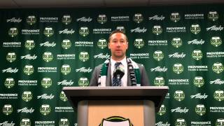 Portland Timbers coach Caleb Porter talks about Portland's 1-0 win over San Jose: Video