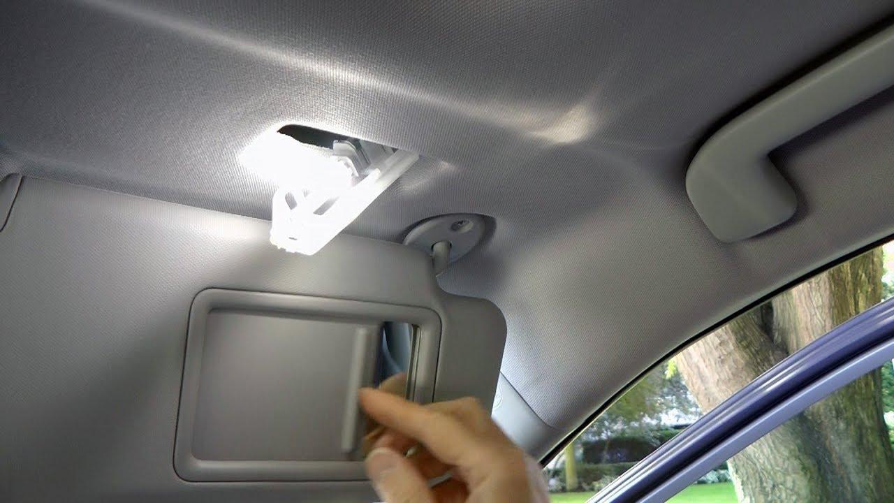 Toyota Rav4 2019 2020 Vanity Mirror Sun Visor Lights Led Installation Youtube
