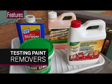 Testing paint removers