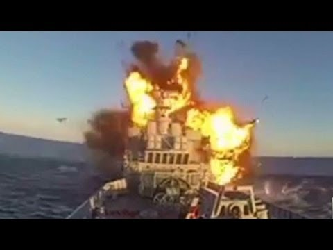See Massive Ship Explode Hollywood Style Youtube
