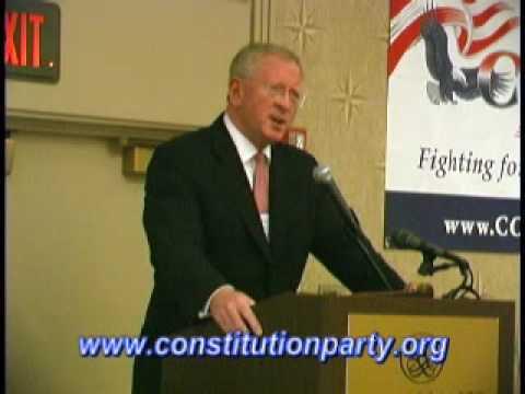 Constitution Party Speaker - Darrell Castle Part 1