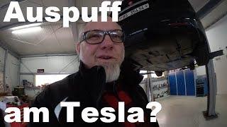 Tesla mit Auspuffsound Soundgenerator am P100D